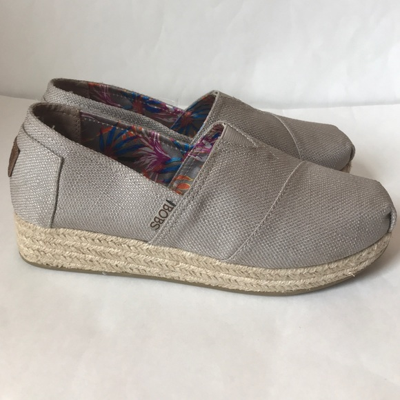 0288723decdc BOBS Skechers Highlights Flexpadrille Wedge Taupe